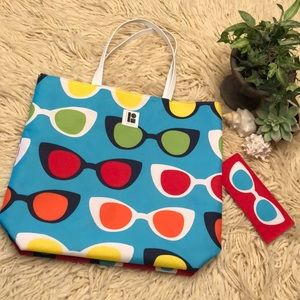 Lisa Perry-Tote Bag & Matching Sunglasses Case